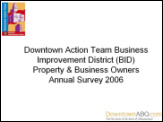 Downtown Action Team - BID survey